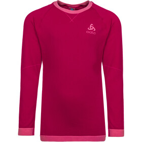 Odlo Performance Warm T-shirt Manches longues Col ras-du-cou Enfant, cerise/fruit dove